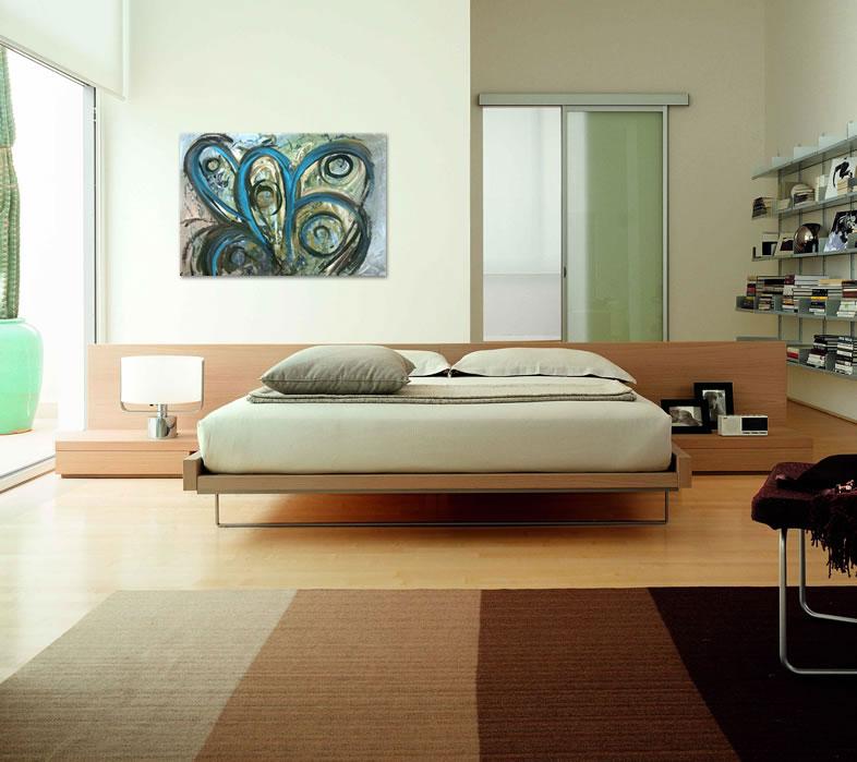 Slike za spavaće sobe u ponudi galerije MAG - apstraktna slika Radoznali pogl...
